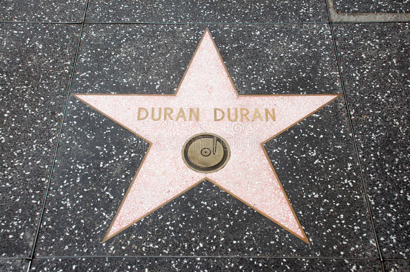L'étoile de Duran Duran photo stock