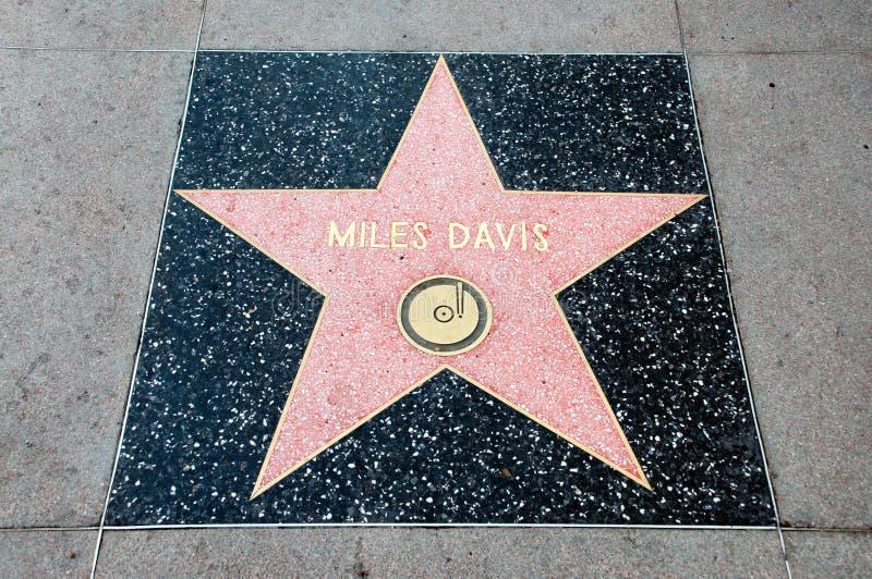 L'étoile de Miles Davis photos libres de droits