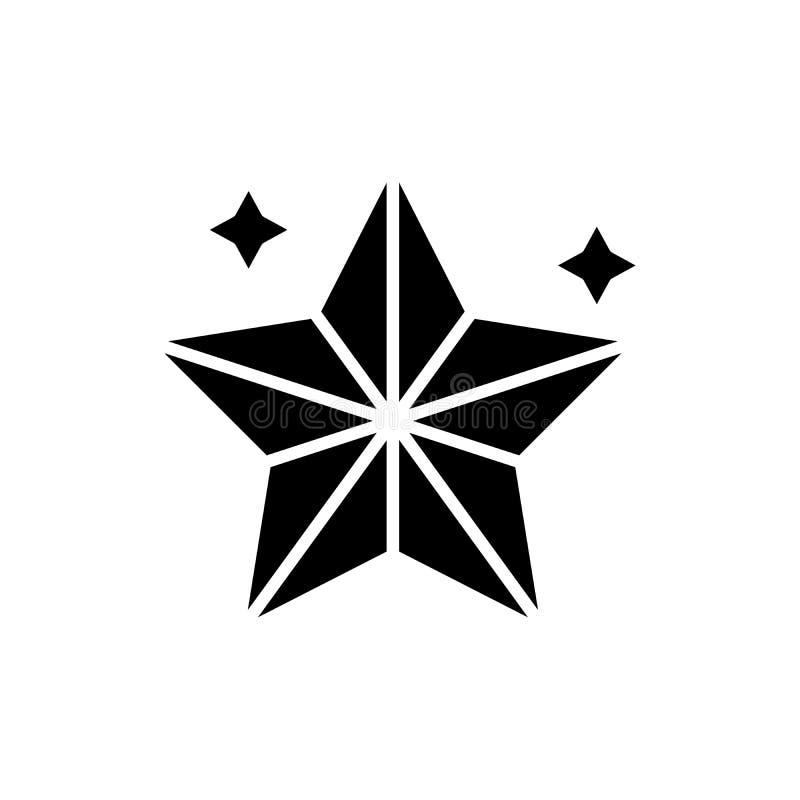 L'étoile de vacances allume le concept noir d'icône L'étoile de vacances allume le symbole plat de vecteur, signe, illustration illustration stock