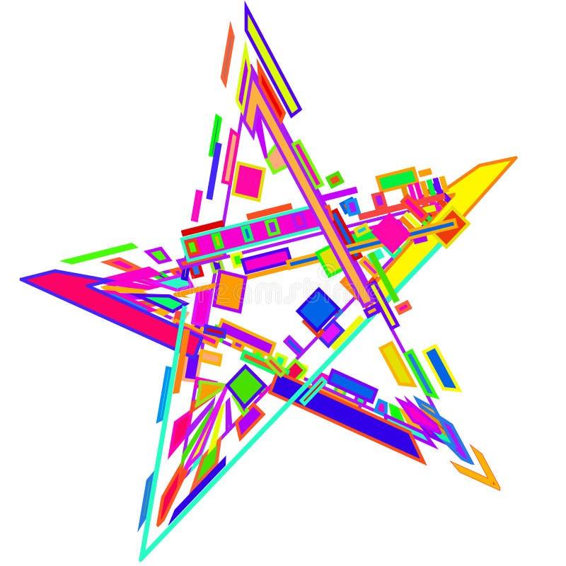 L'étoile des formes géométriques colorées pour la 2D, conception 3D illustration de vecteur