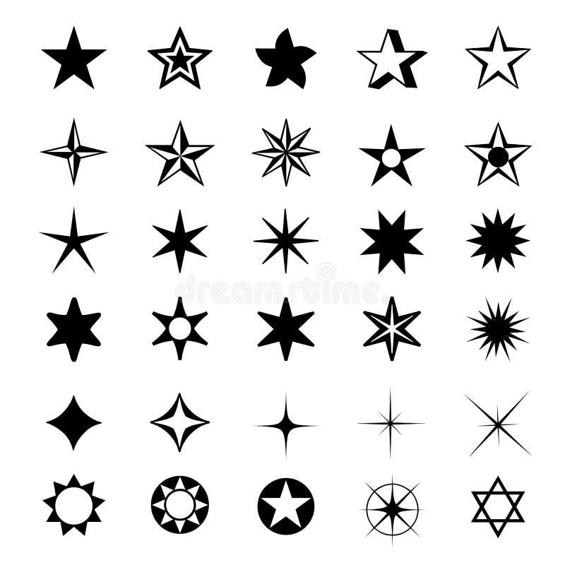 L'étoile forme l'illustration de vecteur d'icône de symbole illustration libre de droits