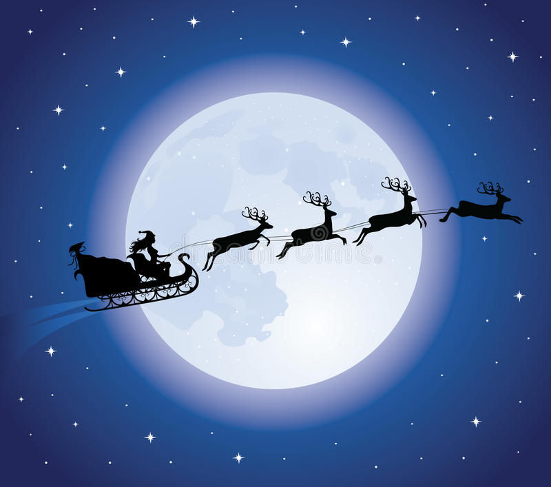 L'étrier de Santa. illustration stock