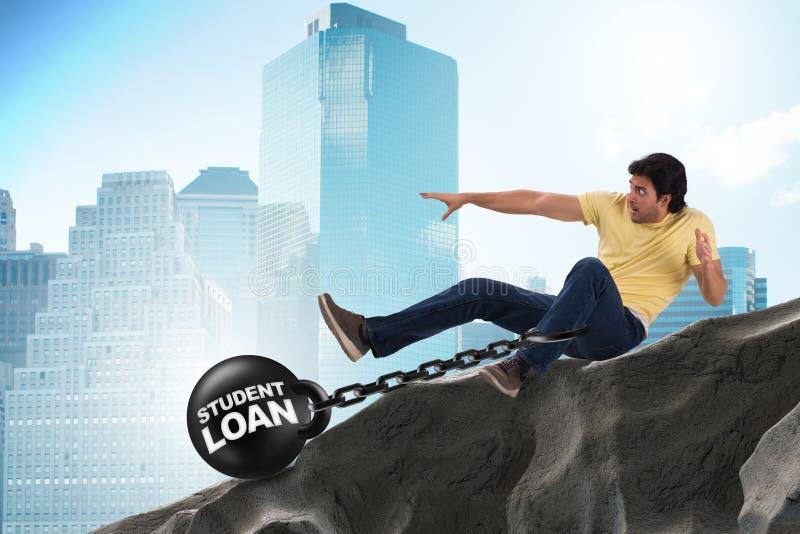 L'étudiant dans le prêt et le concept cher d'éducation illustration stock