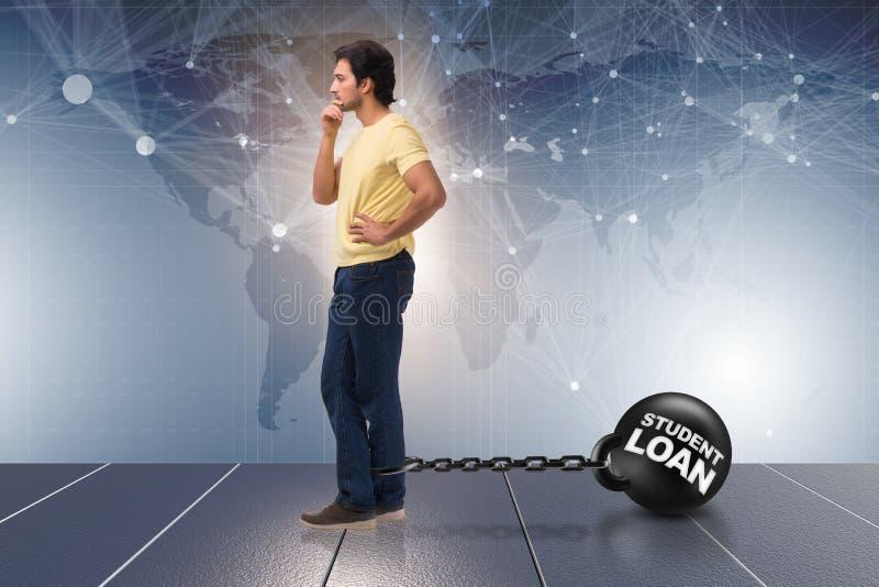L'étudiant dans le prêt et le concept cher d'éducation illustration de vecteur