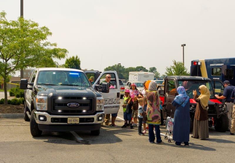 L'événement de contact-un-camion au christiansburg pendant l'été photo libre de droits