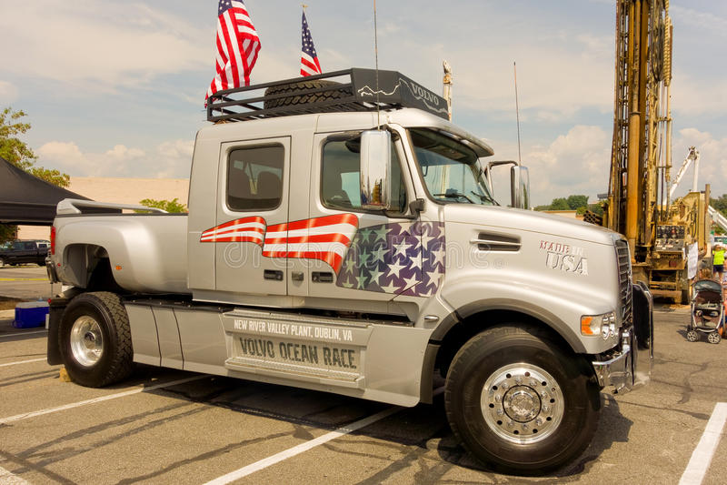L'événement de contact-un-camion au christiansburg pendant l'été photo stock