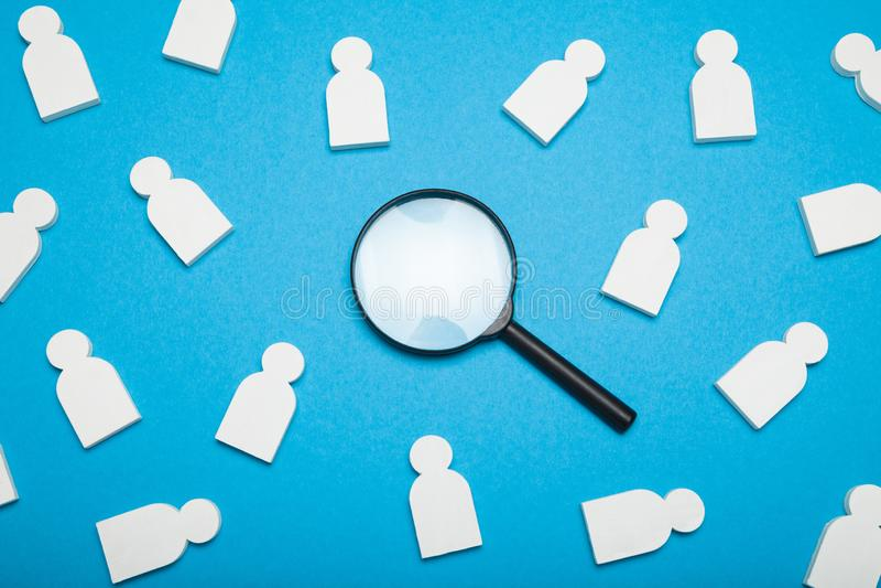 L'évaluation de location de recrue, talent choisissent, concept de crm photographie stock