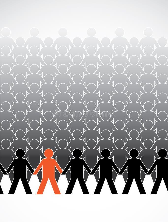 L'être humain figure l'assemblage illustration stock