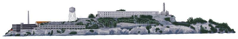 L'île d'Alcatraz illustration de vecteur