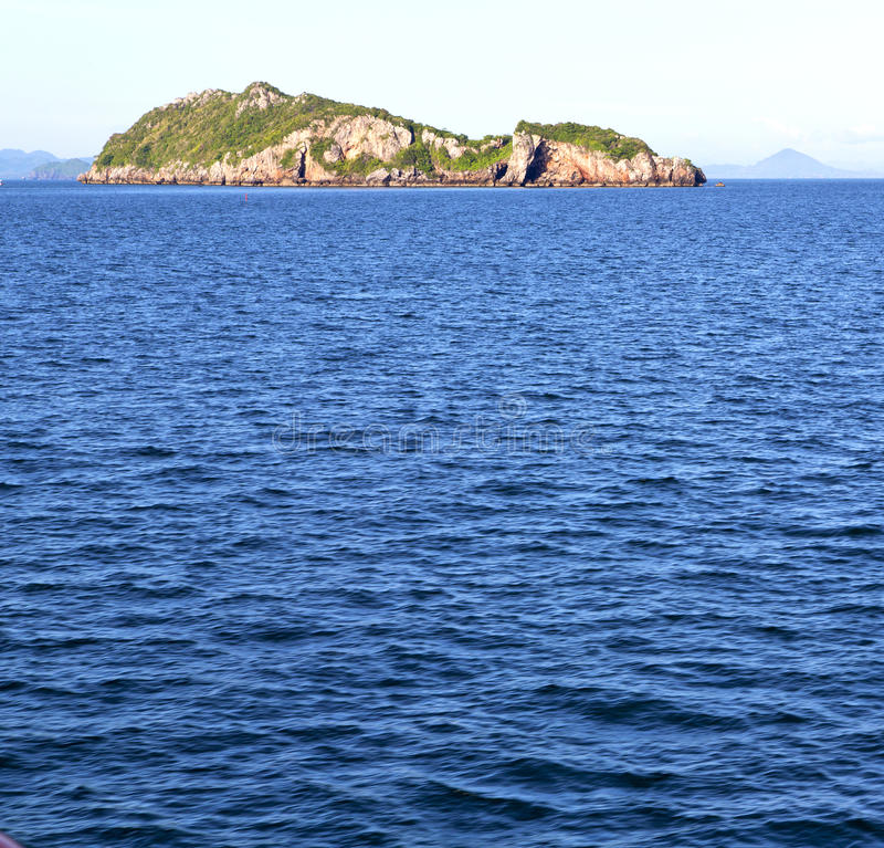 l'île de baie de lomprayah de l'Asie myanmar bascule la mousse photos stock