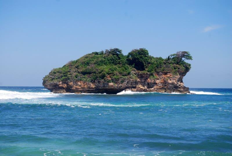 L'île isolée photo stock
