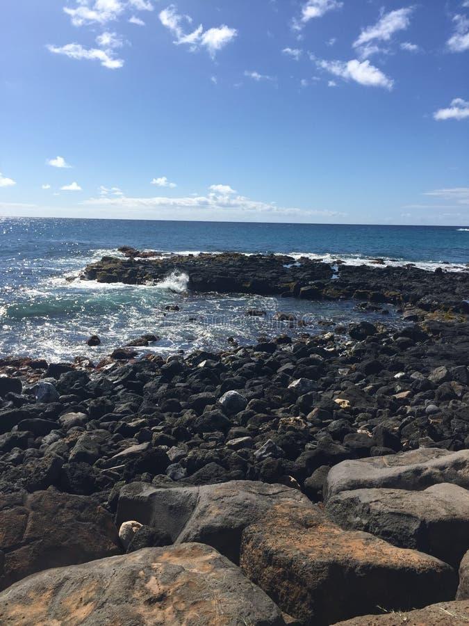 L'île lumineuse de Kaui photographie stock libre de droits