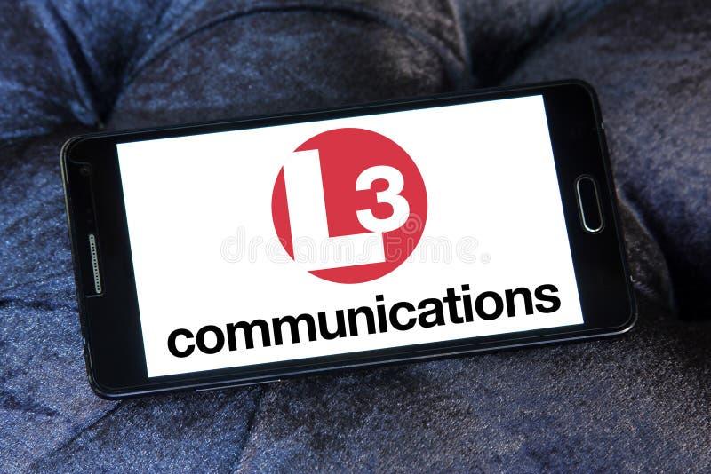 L3 λογότυπο επικοινωνιών στοκ φωτογραφία