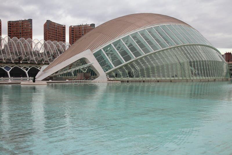 L здание Hemisferic `, город ` искусства и ` науки Испания valencia стоковые фотографии rf