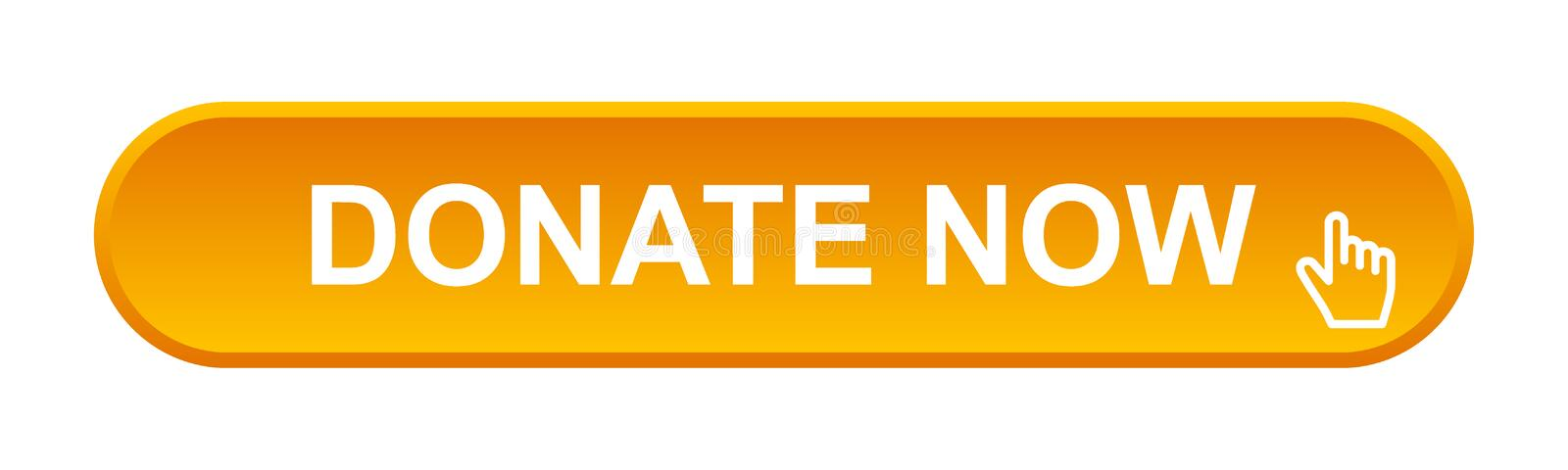 Donate now button. Vector illustration of glossy donate now web button on isolated white background royalty free illustration