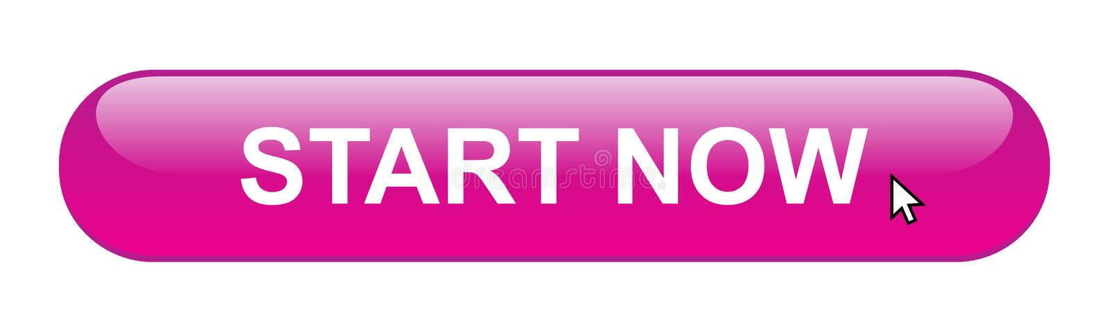 Start now. Web button on computer generated web button icon on pure white background stock illustration