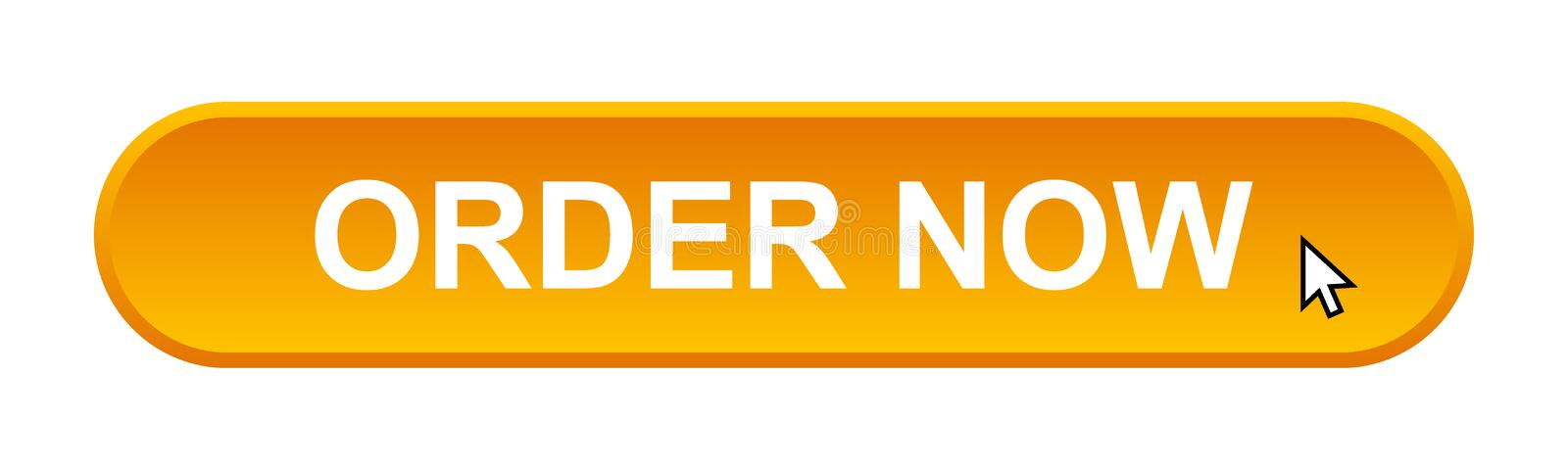 Order now. Web button on computer generated web button icon on pure white background royalty free illustration