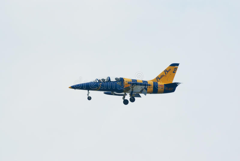 Download L-39 Jet From Baltic Bees Team Editorial Stock Image - Image: 20948624