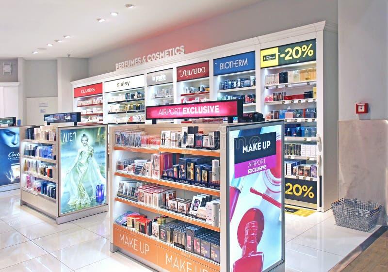 L'aéroport composent la boutique photo stock
