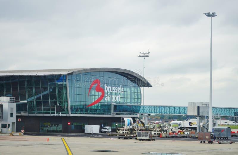L'aéroport national Zaventem BRU de Bruxelles photos stock