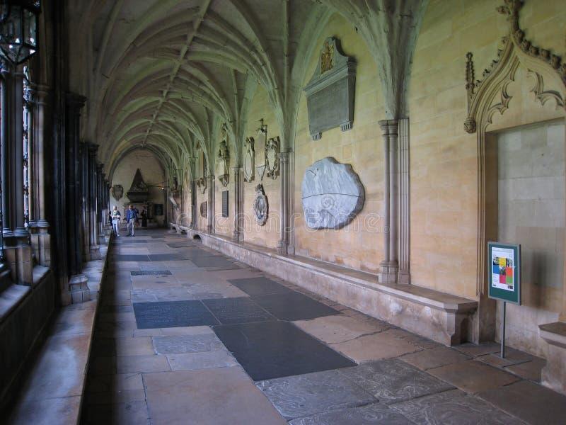 l'abbaye cloître Westminster image libre de droits