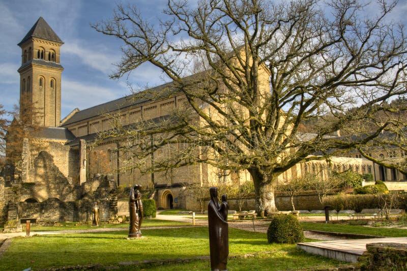 L'abbaye d'Orval en Belgique image libre de droits
