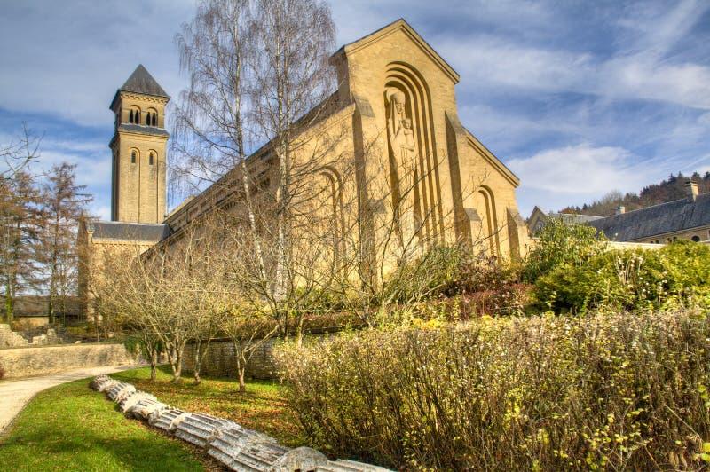 L'abbaye d'Orval en Belgique images libres de droits