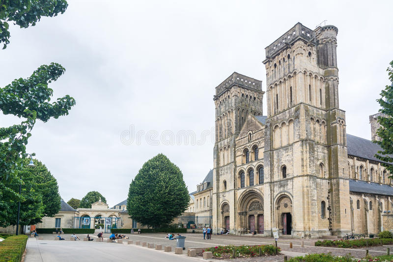 L'abbaye de la Saint-trinité à Caen image libre de droits