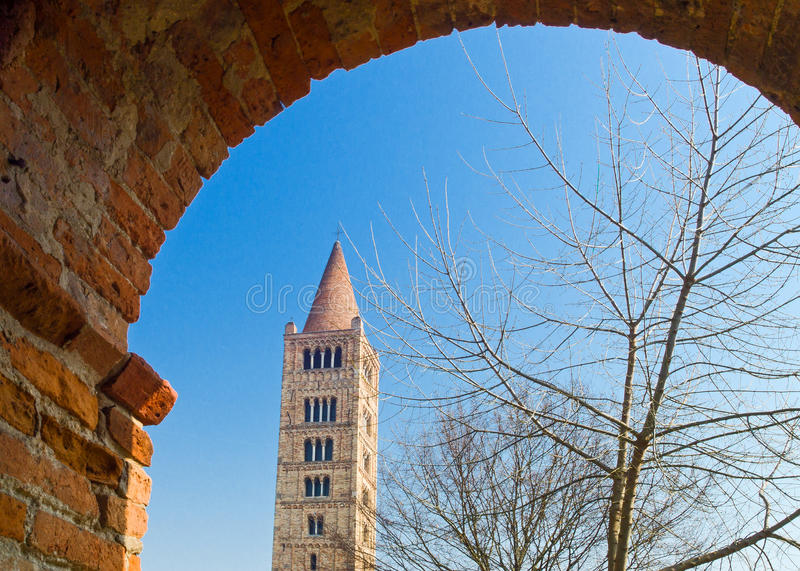L'abbaye de Pomposa de Codigoro image libre de droits