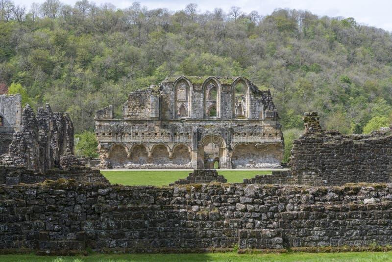 L'abbazia di Rievaulx, North Yorkshire attracca, North Yorkshire, Inghilterra immagini stock libere da diritti
