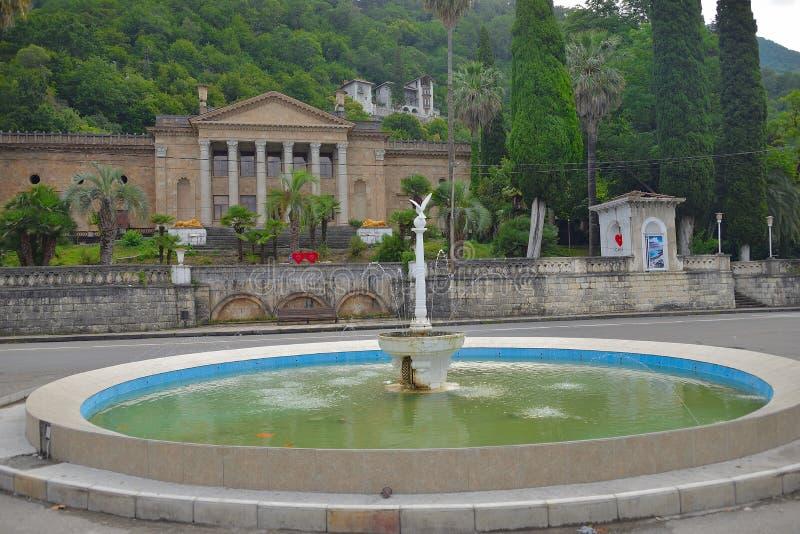 L'Abkhazie Plage tropicale intacte en République Dominicaine La Mer Noire du sud la Riviera photos libres de droits