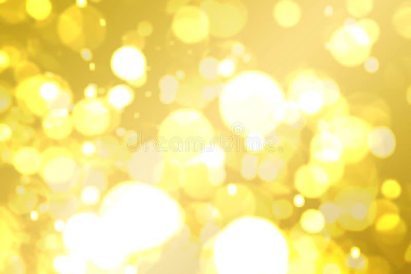 L'abrégé sur d'or brun jaune Bokeh de scintillement a brouillé image libre de droits