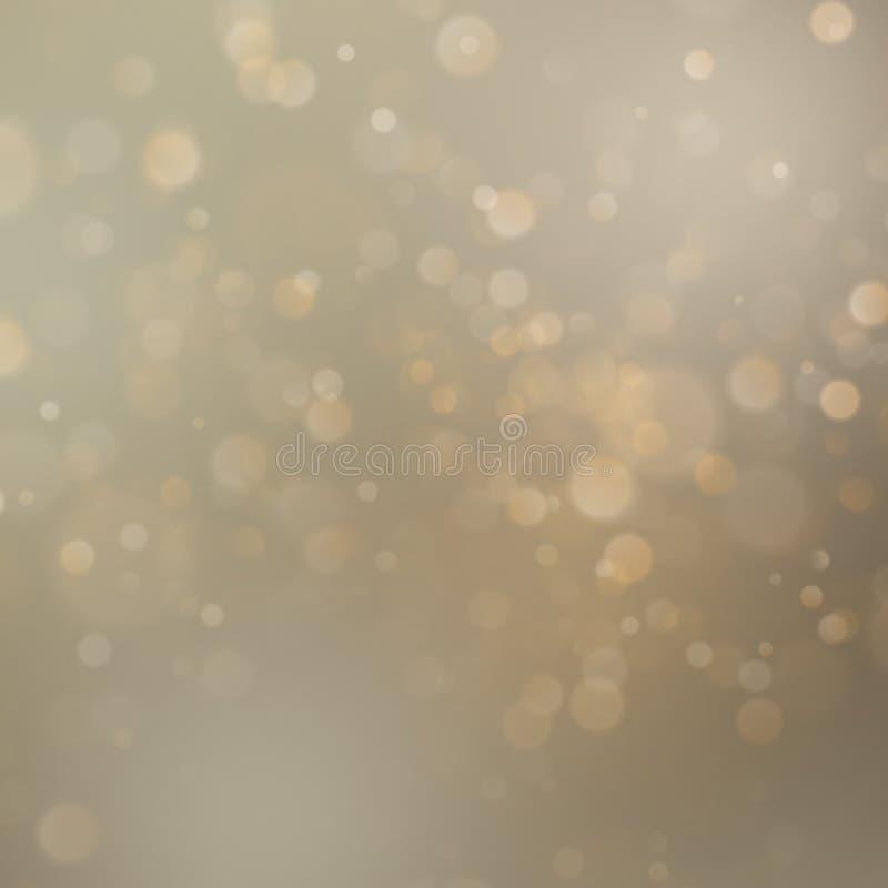 L'abrégé sur d'or vacances de Noël scintillent fond defocused avec le bokeh brouillé ENV 10 illustration stock
