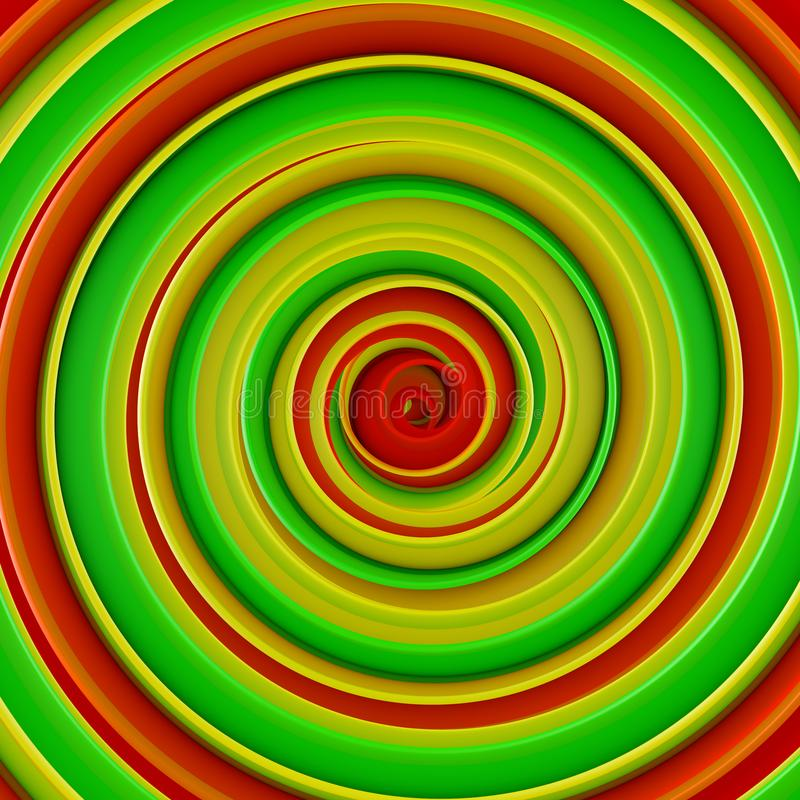 L'abrégé sur en spirale tordu 3D forme rendent illustration de vecteur