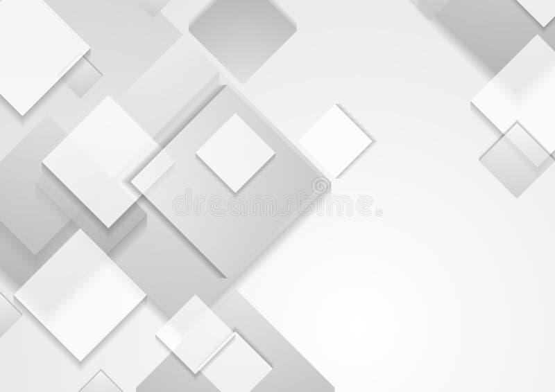 L'abrégé sur gris technologie ajuste le fond illustration stock