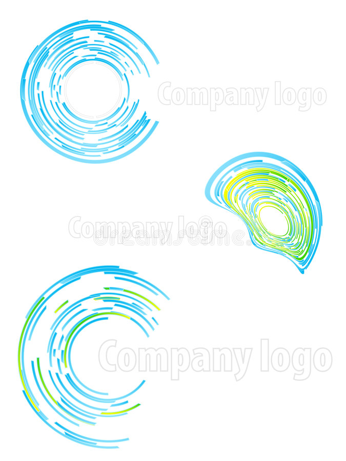 L'abrégé sur logo de compagnie a placé 2 illustration stock