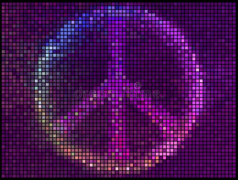 L'abrégé sur multicolore signe de paix allume le fond illustration de vecteur