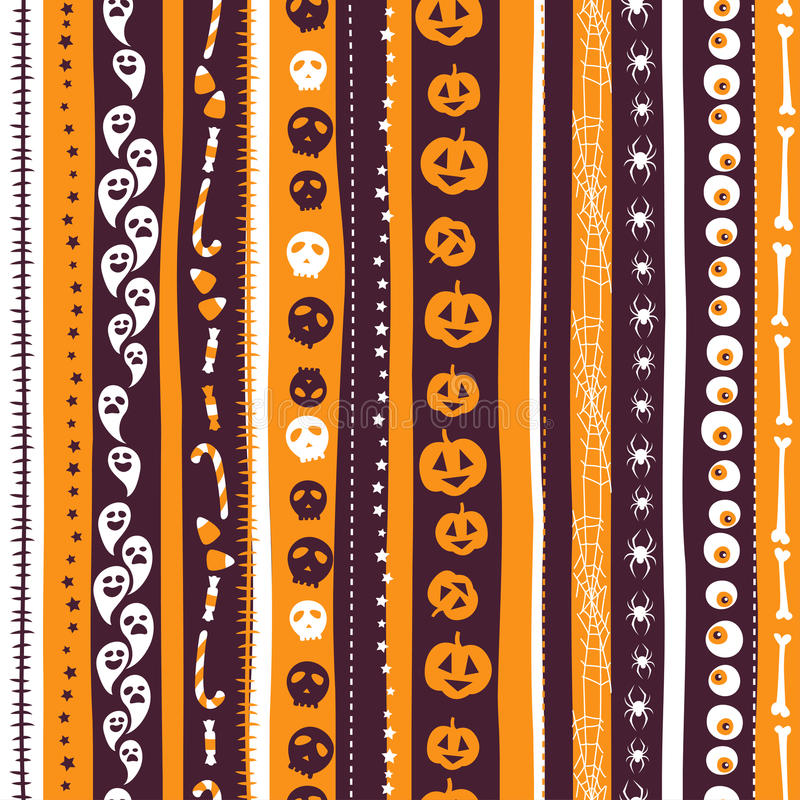 L'abrégé sur sans couture fond d'orange, de blanc et de pirple a barré la PA illustration de vecteur