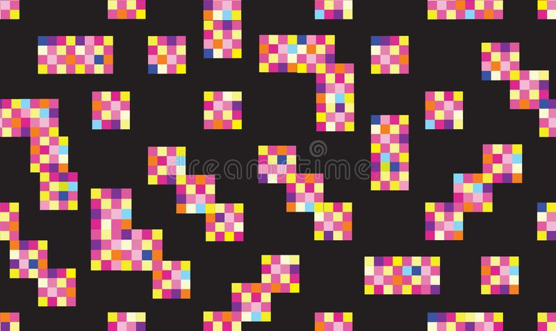 L Abstract geometric seamless pattern. Stylish dotted pixel background vector illustration