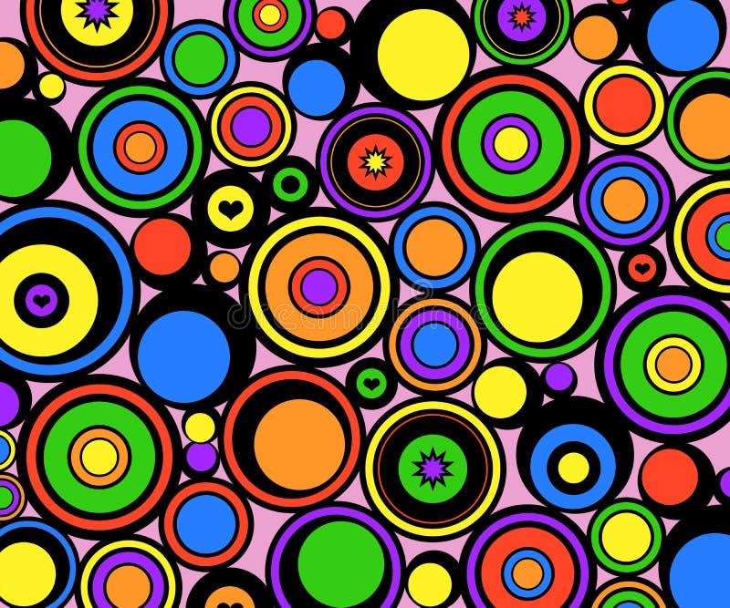 L'abstrait entoure rétro illustration stock