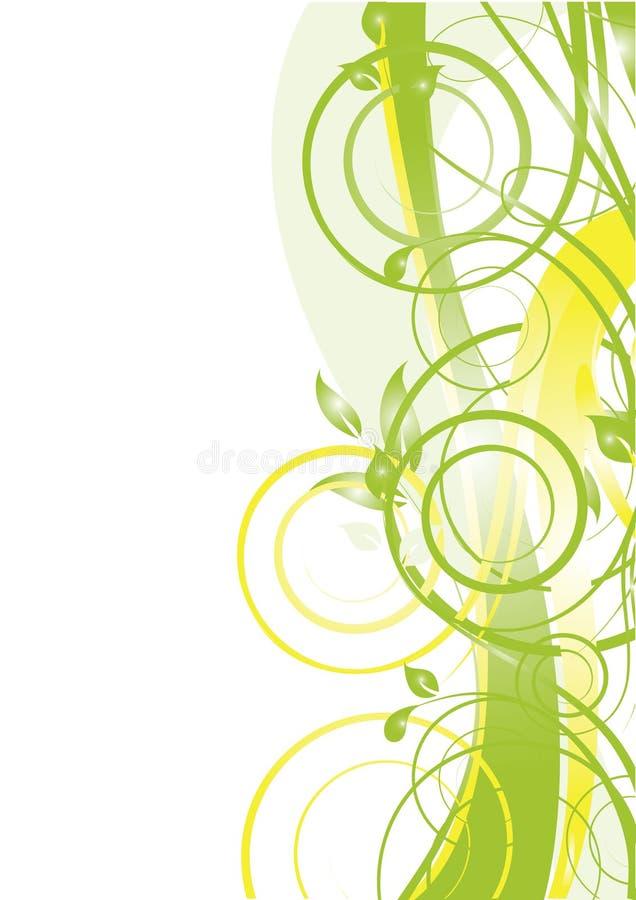 L'abstrait fleurit le fond illustration stock