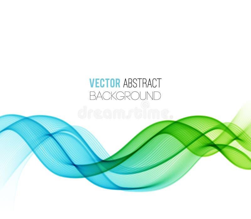 L'abstrait incurvé raye le fond conception de calibre illustration de vecteur