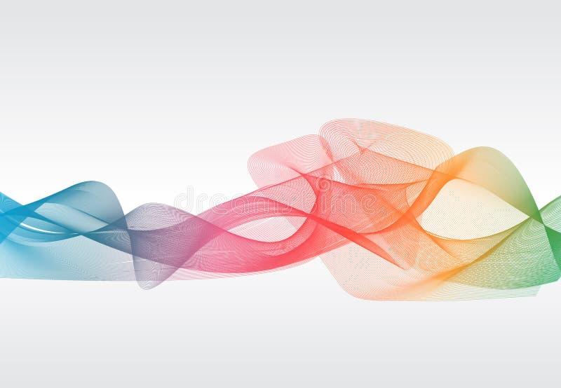 L'abstrait incurvé raye le fond descripteur Affiche, illustration illustration de vecteur