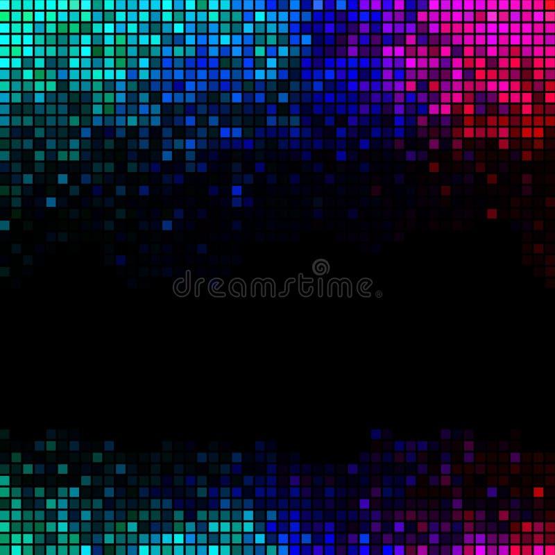L'abstrait multicolore allume le fond de disco illustration stock