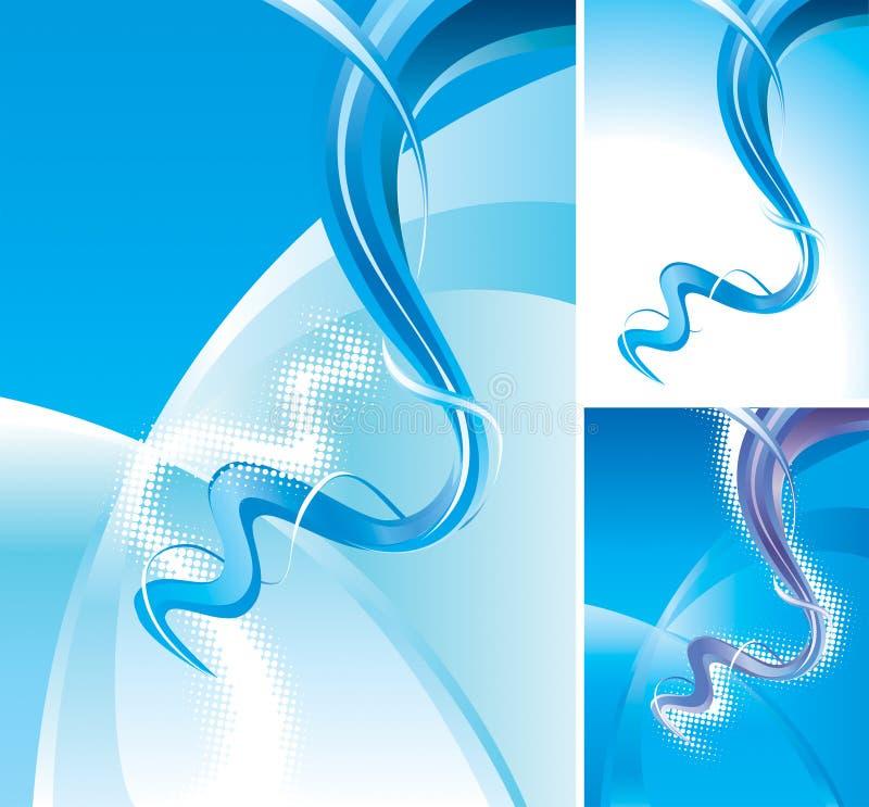 L'abstrait ondule le fond illustration de vecteur