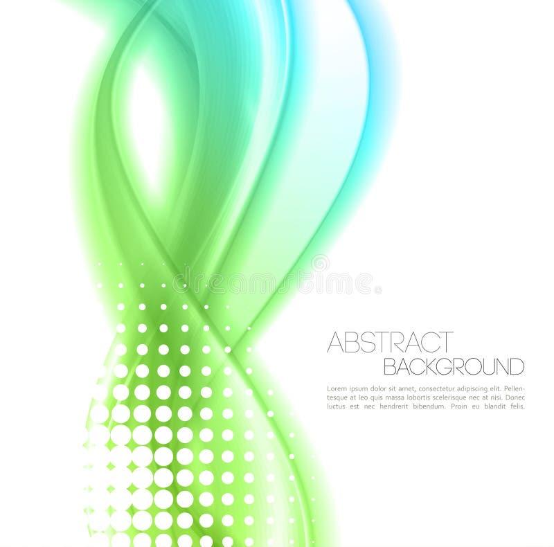 L'abstrait ondule le fond conception de calibre illustration stock