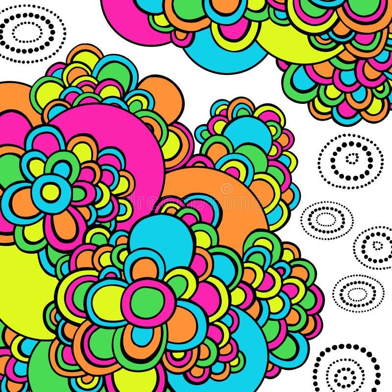 L'abstrait psychédélique routinier gribouille le vecteur illustration stock