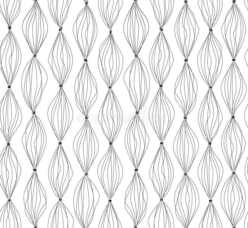 L'abstrait raye le fond Modèle sans couture rayé géométrique illustration de vecteur