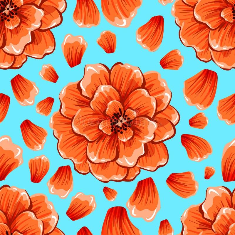 L'abstrait sans joint fleurit le fond Mod?le eps10 de vecteur photos stock
