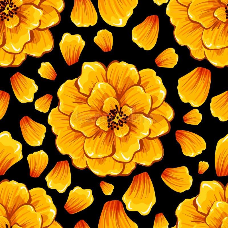 L'abstrait sans joint fleurit le fond Mod?le eps10 de vecteur image stock